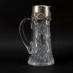 Antique Cut Crystal Pitcher With Dominick & Haff