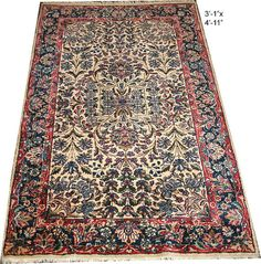 A Stunning Antique Persian Lavar Kirman Rug by yesterdaysremains, $475.00