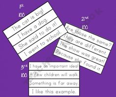 RtI boys-Sight Word Phrase Cards