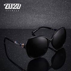 a91128b854 20 20 Brand Design Vintage Oversized Sunglasses Women Polarized Sun Glasses  Round Lens Eyewear KB8044