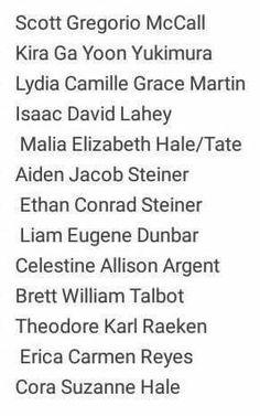 Nome completo dos personagens