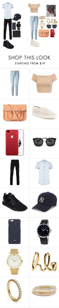 """""""For her...For him... walk/ going out/watching some movie...---For henne ... For ham ... gå / gå ut / se på noen film ..."""" by petra-jelovina ❤ liked on Polyvore featuring Frame, Alice + Olivia, The Cambridge Satchel Company, Antonio Melani, Prada, Versace, River Island, adidas Originals, New Era and Valextra"""
