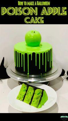 Halloween Desserts, Halloween Food For Party, Halloween Treats, Halloween Cake Decorations, Easy Halloween Cakes, Haloween Cakes, Halloween Costumes, Easy Cake Recipes, Baking Recipes