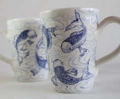 "Giannis Agathos ""koi fish"" mugs"