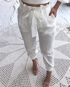 Women's Fashion Bodycon Dresses Online Shopping – IVRose Booties Outfit, Jeans Skinny Blanc, Skinny Jeans, Paperbag Hose, Lace Pants, Trouser Pants, White Trousers, Cuffed Pants, Slacks