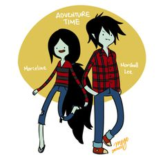 Marceline and Marshall Lee