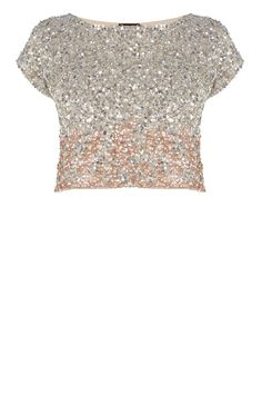 Stand-out and sparkle in our stunning hand beaded Iridesa Top. The graduated all over sequins and on trend cropped style makes this a true eye-catcher, perfect for this seasons special events. Team with the Iridesa skirt for a truly gorgeous look.