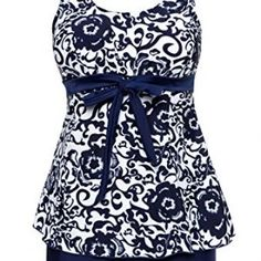 b5f45768ef1fb Wantdo Women s Cover Up Swimsuit Two-Piece Large Bust Swim Suit Push Up  Dress Swimwear