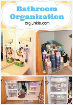 Need some fresh ideas for bathroom clutter.com. Bathroom Organization at orgjunkie.com