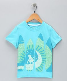 Turquoise Surfer Organic Tee from Kite Kids on #zulily