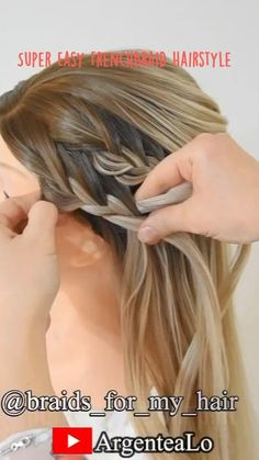 Lil Girl Hairstyles, Open Hairstyles, Easy Hairstyles For Long Hair, Braids For Long Hair, Hairstyles Haircuts, Braided Hairstyles, Hair Color Streaks, Chignon Hair, Hair Upstyles
