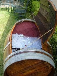 Wine barrell ice chest