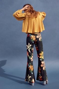Farm Rio Calla Flared Pants | Anthropologie