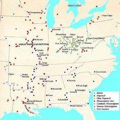 Map of moundbuilding societies