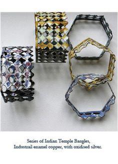 Emily Knight, jewelry artist; enamel.