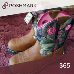 Ariet baby phat steel toe boots new New boots Ariat Shoes Combat & Moto Boots