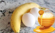 Eier Maske mit Honig und Banane selber machen - natürliche Haarpflege