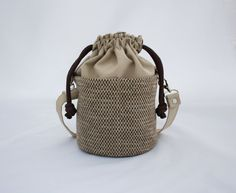 Small Beaudin Ditty Bag in Cafe  Drawstring by BeaudinDesigns,