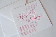 REAL WEDDING: Kimberly and Dylan | Simple Wedding Invitation