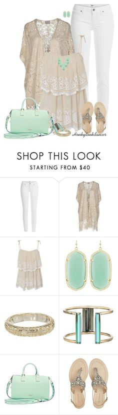 """""""White Jeans"""" by honkytonkdancer ❤ liked on Polyvore featuring Paige Denim, Vero Moda, Frock and Frill, Kendra Scott, Rebecca Minkoff and Antik Batik"""