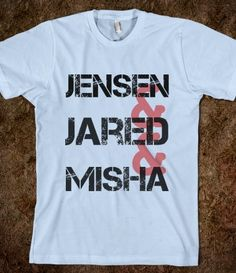 Supernatural Jensen, Jared, Misha