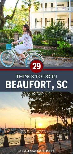29 Things to Do in Beaufort, South Carolina -- Beaufort, SC is one of the South's most beautiful towns, draped with Spanish moss and framed by gorgeous coastal views.Adventure on the water or along the rails-to-trails path...relax at the beach or breath easy on a large swing overlooking the river. Dive deep into the history of the Gullah Geechee people, explore downtown, local restaurants, try local activities and things to do, and more with these tips! #Beaufort #SouthCarolina #familytrav South Carolina Vacation, Carolina Beach, Top Family Vacations, Family Travel, Local Activities, Outdoor Activities, Weekends Away, Low Country, Travel Usa
