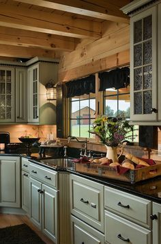 Coventry Log Homes | Rustic Kitchen