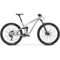 Fuji Rakan 29 Full Suspension Bike 2019 Satin Tech Silver - The Rakan is on par to be the most efficient pedalling trail bike on the of MLinkÃ'Â suspension gets you to the top of the climb as fast as Bike Trails, Biking, Full Suspension, Online Bike Store, Bmx Bikes, Cycling Gear, Fuji, Bicycle, Satin