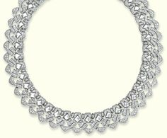 A DIAMOND 'PAGODA' NECKLACE, BY BULGARI  Designed as a series of pavé-set diamond entwined openwork links with polished lozenge detail, 40.0 cm long, with French assay marks for gold, in black leather Bulgari pouch  Signed Bulgari