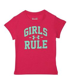 Pink 'Girls Rule' Tee - Little Girls #zulily #zulilyfinds