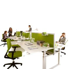 Temptation Twin Height Adjustable Desk Programme Manufactured By Sedus Offers The Open Plan Office