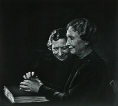 Helen Keller, with Polly Thompson - The Greatest Portraits Ever Taken By Yousuf Karsh - 121Clicks.com