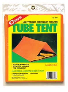 Coghlan\'s Tube Tent would be a smart thing to carry hiking, just in case! Emergency Preparedness Kit, Emergency Supplies, Emergency Shelters, Survival Knife, Survival Gear, Army Navy Store, Indoor Camping, Tent Set Up, 72 Hour Kits