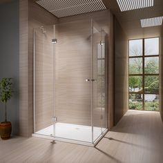 Duschkabine Duschabtrennung Dusche Duschwand Duschtasse Eckeinstieg 8mm ESG Glas in Heimwerker, Bad & Küche, Duschen | eBay