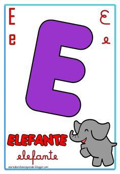 Alfabeto para parede em folha grande com as quatro formas de escrita da letra.   Esse é o tipo de alfabeto mais procurado, pois permite ens...