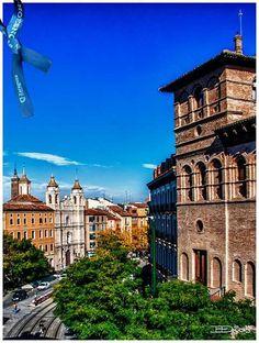 Cruce Coso y Cesar Augusto. Zaragoza España. foto José Luis De Dios.