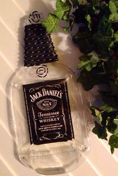 Jack Daniels Bottle Tray Melted Bottle by GypsyBottleBoutique, $16.50