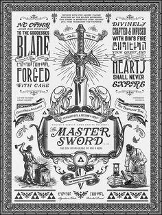 Legend of Zelda Master Sword Advertisement - Created by Barrett Biggers