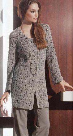 Ivelise Feito à Mão: Casaco De Crochê