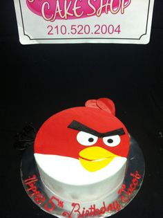 Red angry bird cake by Exclusive Cake Shop, via Flickr