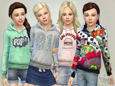 Lana CC Finds - Hoodie for Girls P01 by lillka