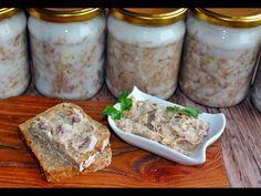 SMAROWIDŁO MIĘSNE - RILETES - #mięso #smalec #wieprzowina #riletes - YouTube Carne, Soup, Keto, Pasta, Youtube, Recipes, Kielbasa, Polish, Preserve