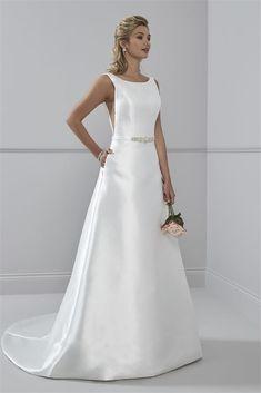 Elegant Mikado Wedding Dress- Soraya by Romantica - Caroline Clark Bridal Boutique Sell Wedding Dress, Stunning Wedding Dresses, Designer Wedding Dresses, Wedding Gowns, Bride Dresses, Prom Dresses, Always And Forever Bridal, Minimal Wedding Dress, A Line Gown