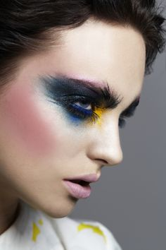beauty, makeup, avant guarde makeup