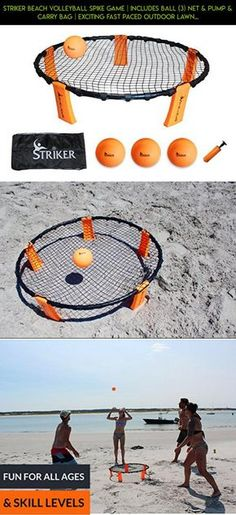 Striker Beach Volleyball Spike Game | Includes Ball (3) Net & Pump & Carry Bag | Exciting Fast Paced Outdoor Lawn Games | Perfect for Backyard, Beach, Tailgate | Fun for Kids Adults Family #vest #parts #racing #drone #camera #gadgets #products #plans #technology #shopping #gardening #fpv #tech #kit