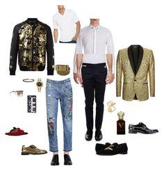 """Без названия #48"" by kristina-abashina on Polyvore featuring Dolce&Gabbana, Philipp Plein, Rolex, David Yurman, Clive Christian, Jockey, men's fashion и menswear"