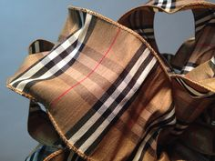 Burberry Style Wired Ribbon 10 Yards Nova by Homedecorgoodies, $49.99