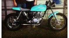 Love this custom blue Honda cb250 cafe racer