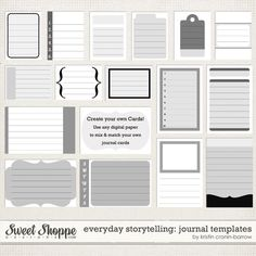 Everyday Storytelling: Journal Templates by Kristin Cronin-Barrow
