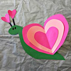 Heart Snail Craft For Kids (Valentine Art Project) - Sassy Dealz